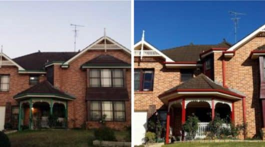 House Exterior Painting Castle Hill - Before and After