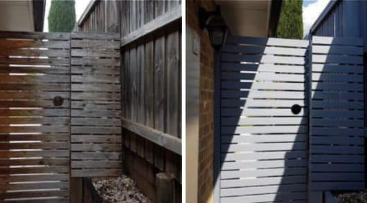 Gate Painting Kellyville - Before and After