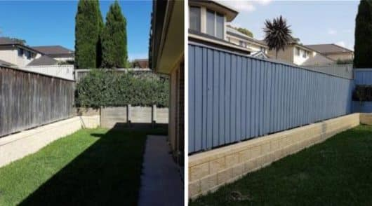 Fence Painting Kellyville - Before and After