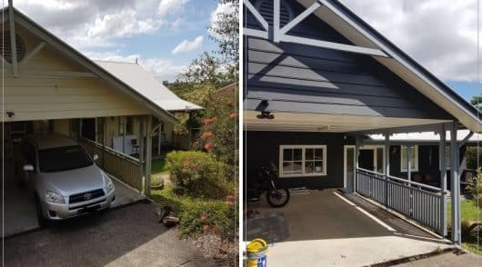 Garage painting Berowra before and after